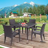 Salsa dining set ( 4chairs + 1table )