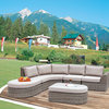 Elegance lounge set B (1left+1middle+1inward conrner+1footrest+1side table)